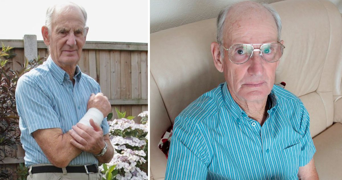 elderly attacked by dog.jpg?resize=412,232 - Elderly Man Abandoned By The Owner Of The Dog Who Bit Him