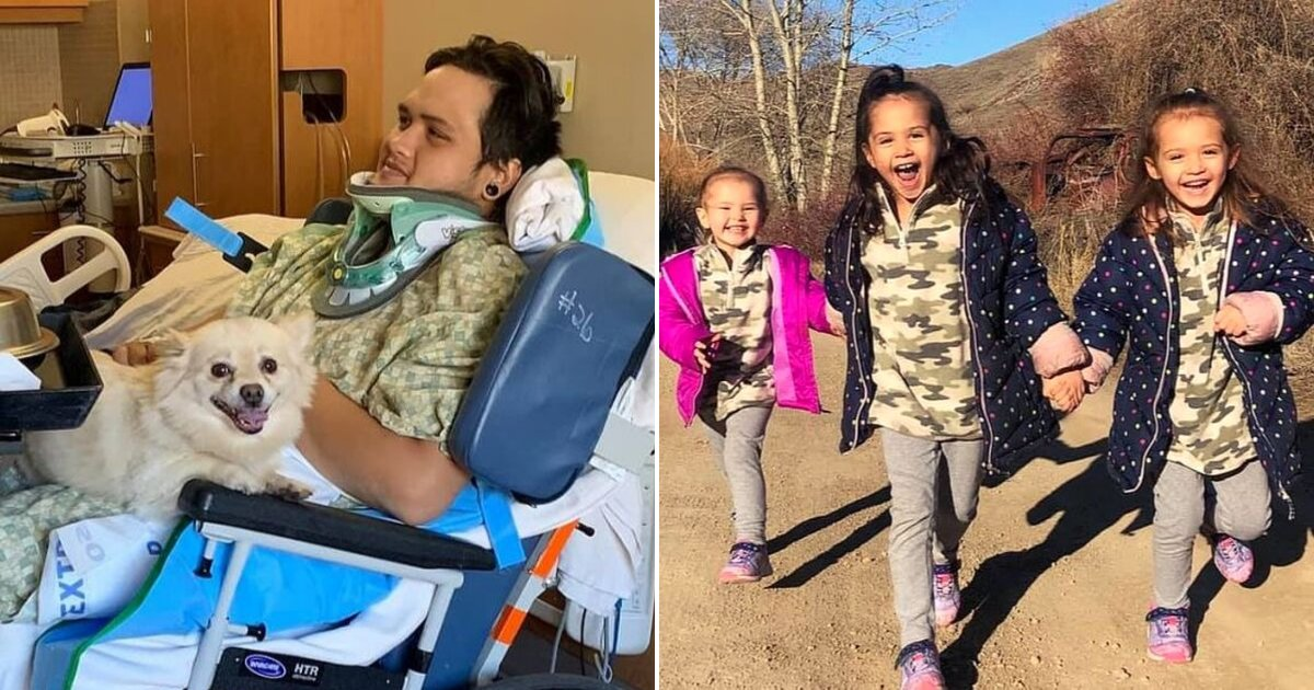 father2.png?resize=412,232 - 26-Year-Old Father Woke Up Paralyzed And Was Told His Three Young Daughters Passed Away
