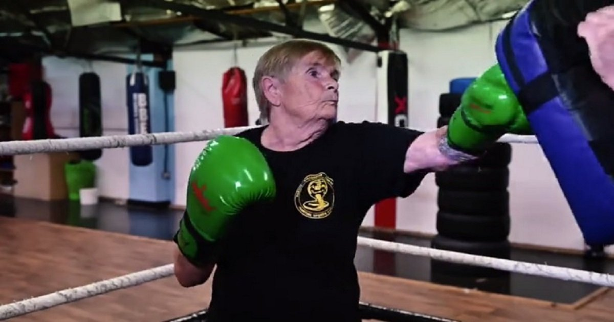 k3 2.jpg?resize=1200,630 - This 76-Year-Old Woman Became A Kickboxer Despite Having 2 Knee Replacements And Arthritis