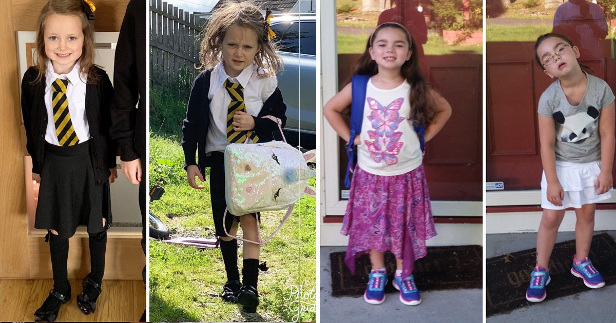 lk.jpg?resize=1200,630 - These Uproarious Pictures Of Kids Before And After First Day At School Will Remind You Of Your First Day At School