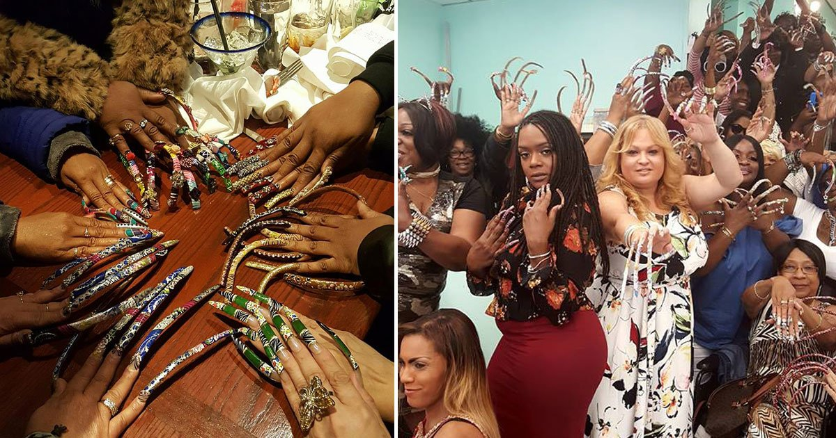 long nail goddesses.jpg?resize=412,232 - Group Of Women With Nails As Long As 19 Inches Call Themselves The Long Nail Goddesses