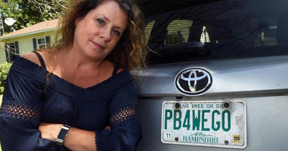 mom who was asked to surrender license plate that reads pb4wego won the battle with the state.jpg?resize=412,275 - A Woman Was Asked To Surrender Her License Plate That Read 'PB4WEGO'