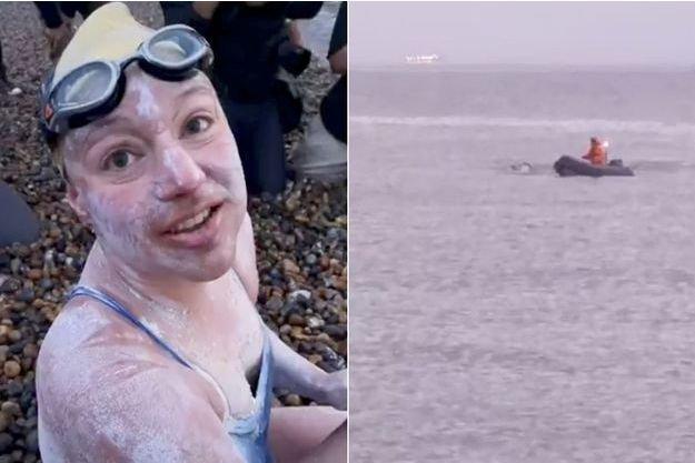 reuters 2.jpg?resize=412,232 - Hommage à tous les survivants du cancer : elle traverse 4 fois la Manche à la nage sans s'arrêter