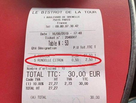 rondelle citron.jpg?resize=300,169 - Consommation: des bistros de Paris facturent la rondelle de citron à 50 centimes