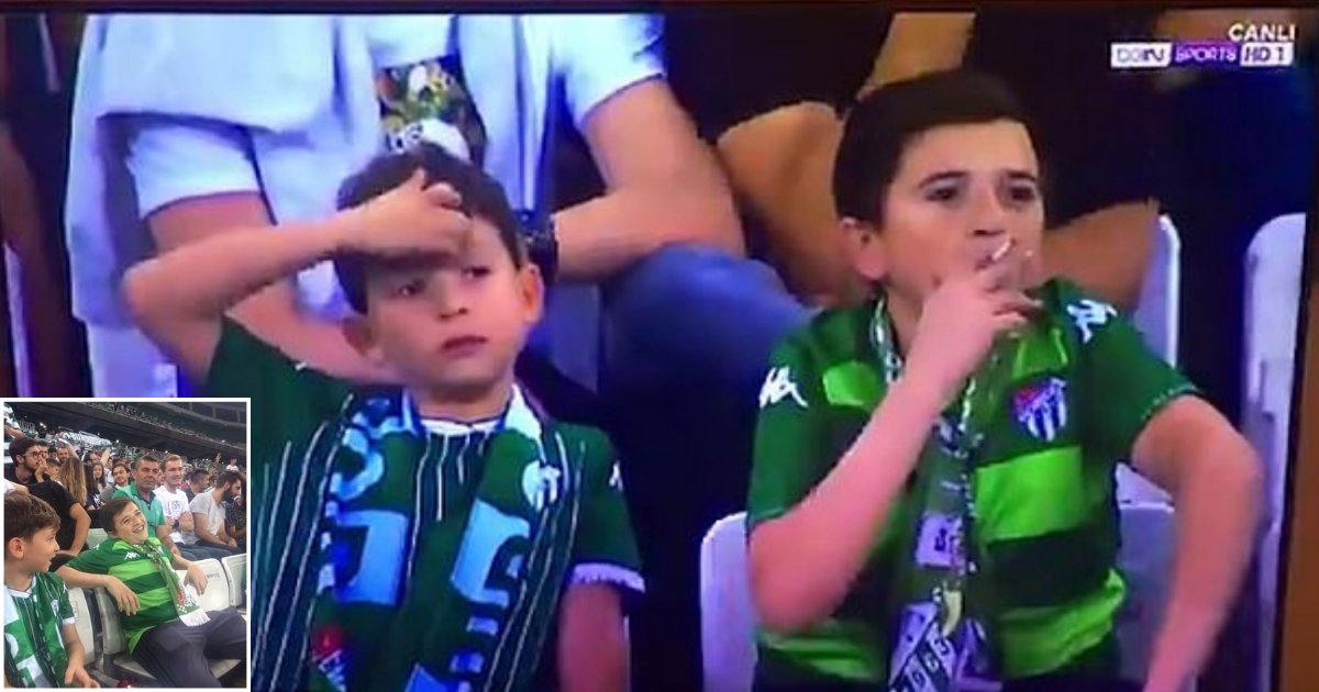 s3 8.png?resize=412,232 - The Cameras At Turkish Football Match Captured What Appeared To Be A Young Boy Smoking