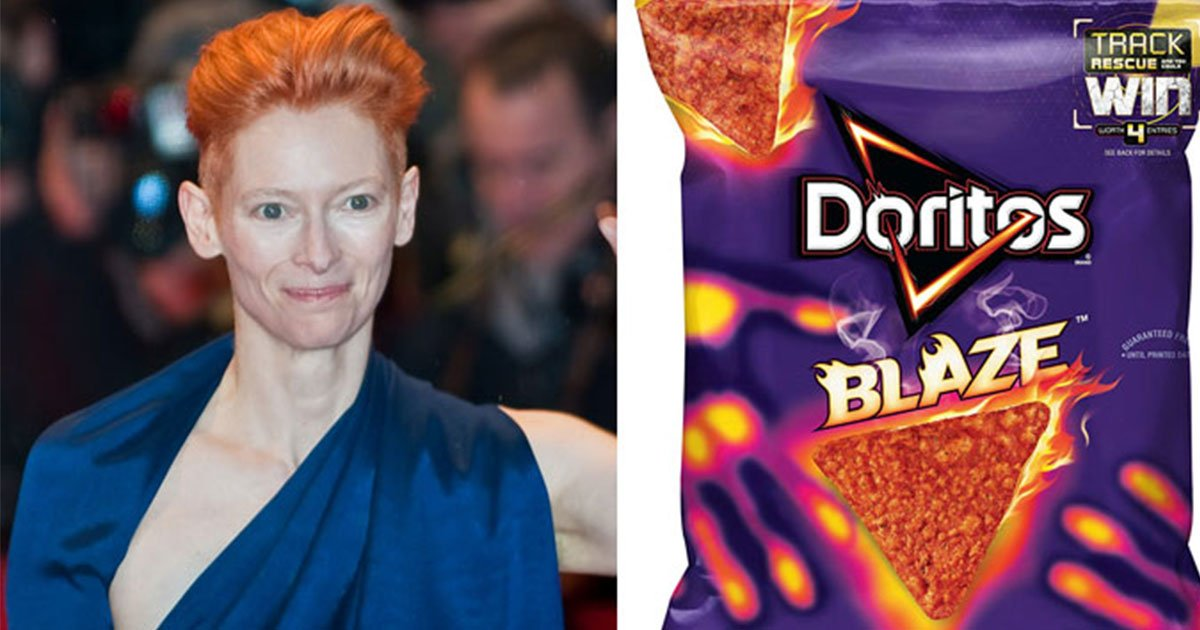 somebody compared tilda swintons outfits to different flavors of doritos and it is hilarious.jpg?resize=1200,630 - Somebody Hilariously Compared Tilda Swinton's Outfits To Different Flavors Of Doritos