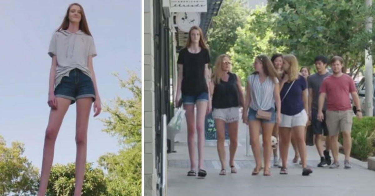 tallest girl.jpg?resize=412,232 - Cette adolescente a les jambes les plus longues du monde
