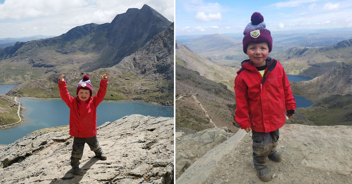 toddler three peaks.jpg?resize=1200,630 - Three-Year-Old Climbed Three Peaks For His Best Friend Who Died When He Was Just Two