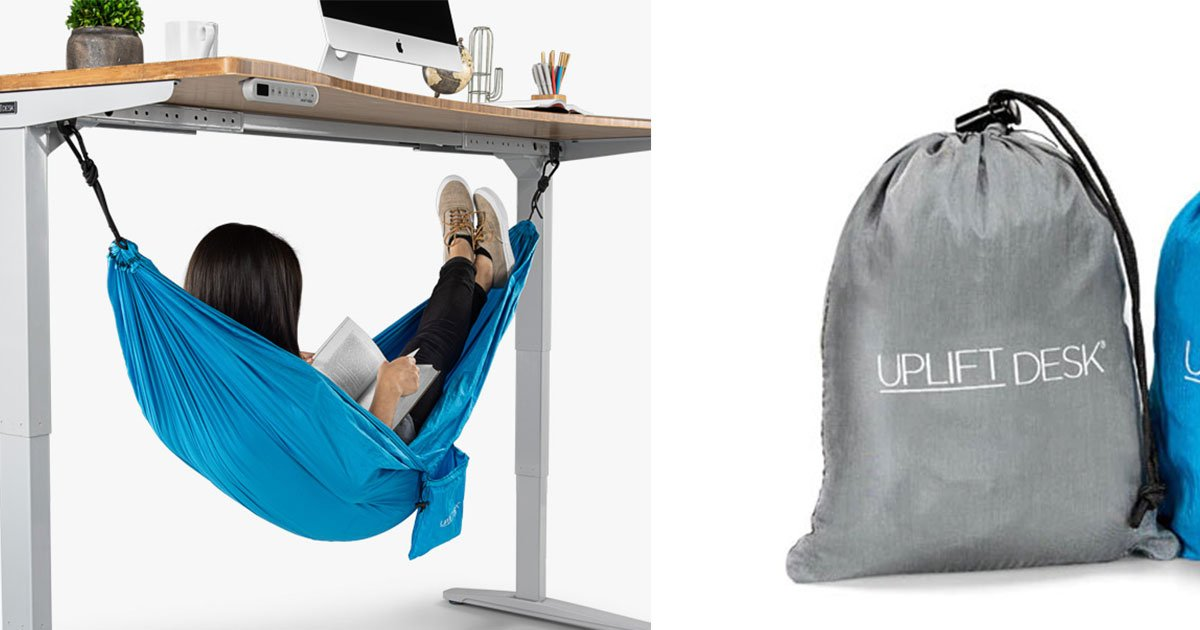 untitled 1 13.jpg?resize=1200,630 - This Under-Desk Hammock Will Let You Nap In Office Now