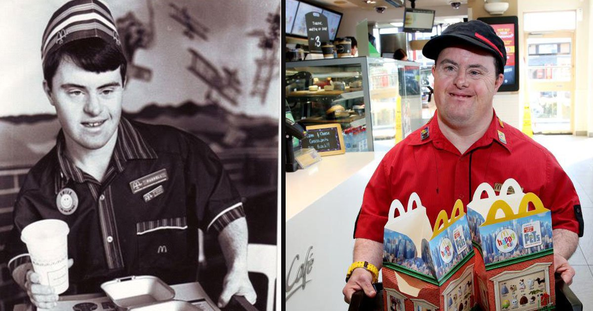 untitled 1 36.jpg?resize=1200,630 - McDonald's Employee With Down Syndrome Retired After Serving Happiness For 32 Years