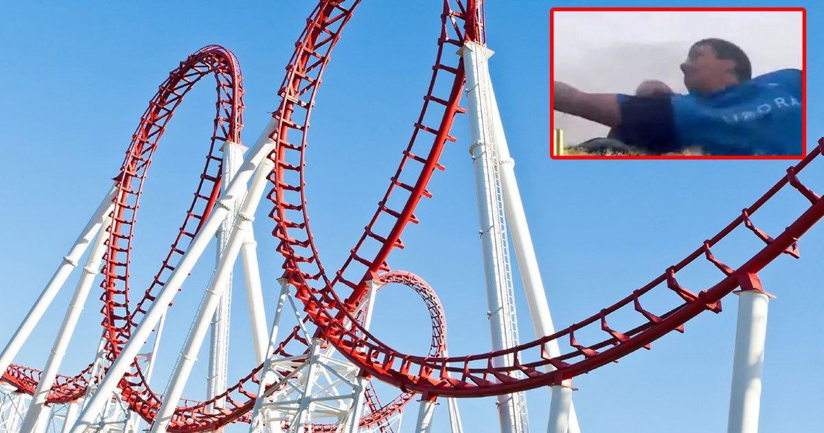 untitled 1 37.jpg?resize=1200,630 - A Man On A Rollercoaster Managed To Catch A Phone Dropped By Another Rider