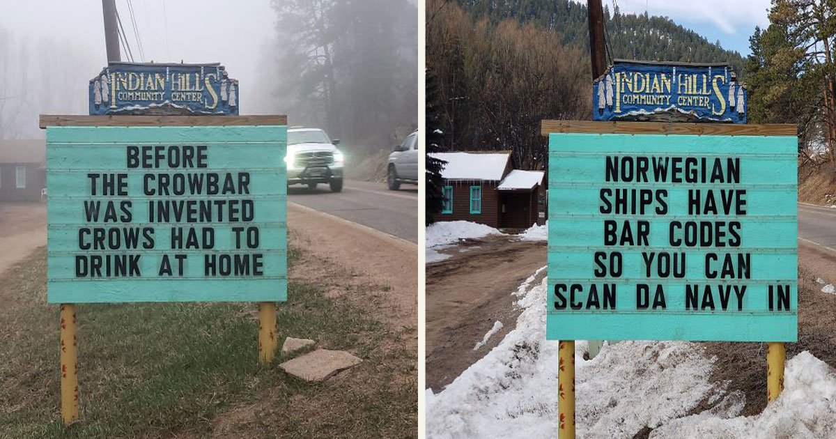 untitled 1 7.jpg?resize=1200,630 - A Man Decided To Be Creative And Started Putting Out Hilarious Roadside Signs