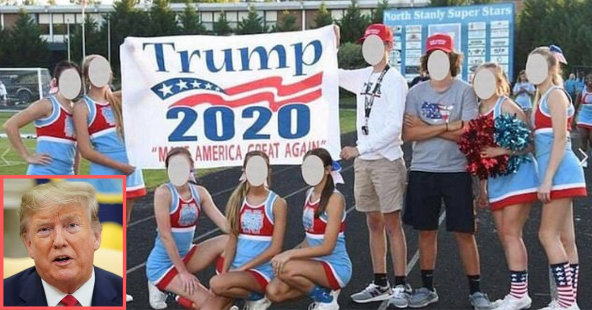 untitled design 1 13.png?resize=1200,630 - Cheerleading Squad Was Put on Probation After Showing Trump Banner During A Football Match
