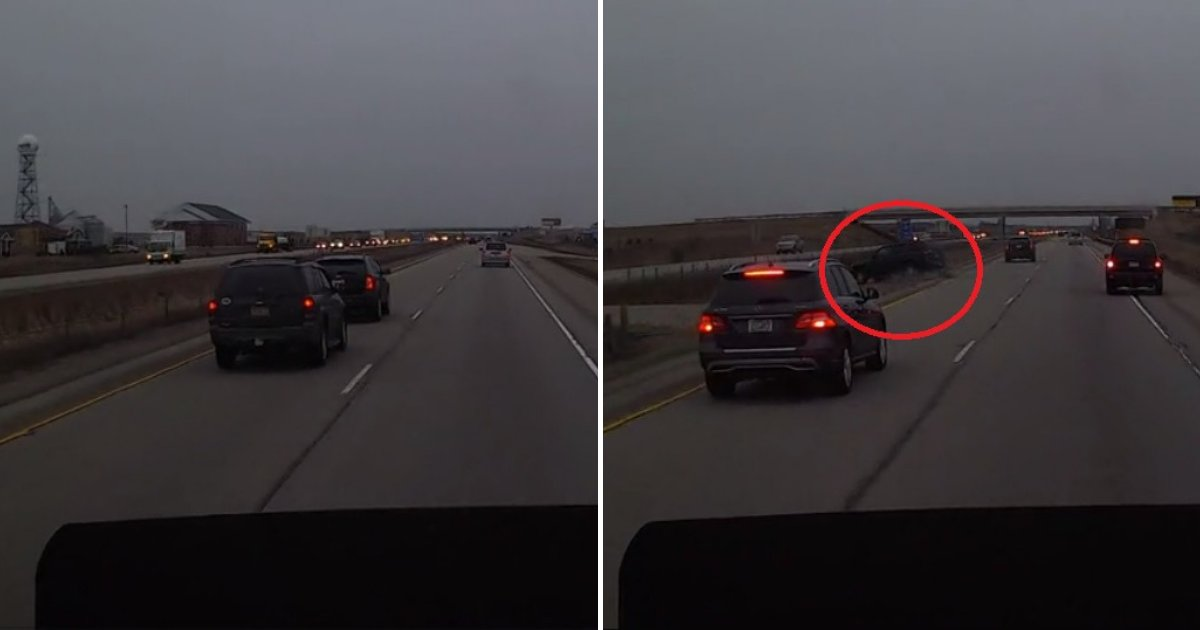 untitled design 17.png?resize=1200,630 - Driver Hit The Breaks After Getting Tired Of Aggressive Driver Who Was Tailgating Him