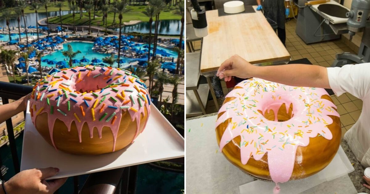 untitled design 89.png?resize=412,232 - Hotel Offers World's Largest Donuts That Weigh 10 Pounds And Contain 28,000 Calories