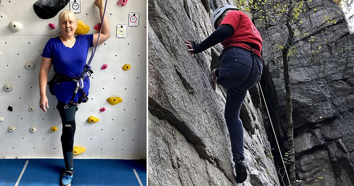 woman rock climbing.jpg?resize=1200,630 - 51-Year-Old Nurse - Who Lost Her Leg During An Accident - Has Taken Up Rock Climbing