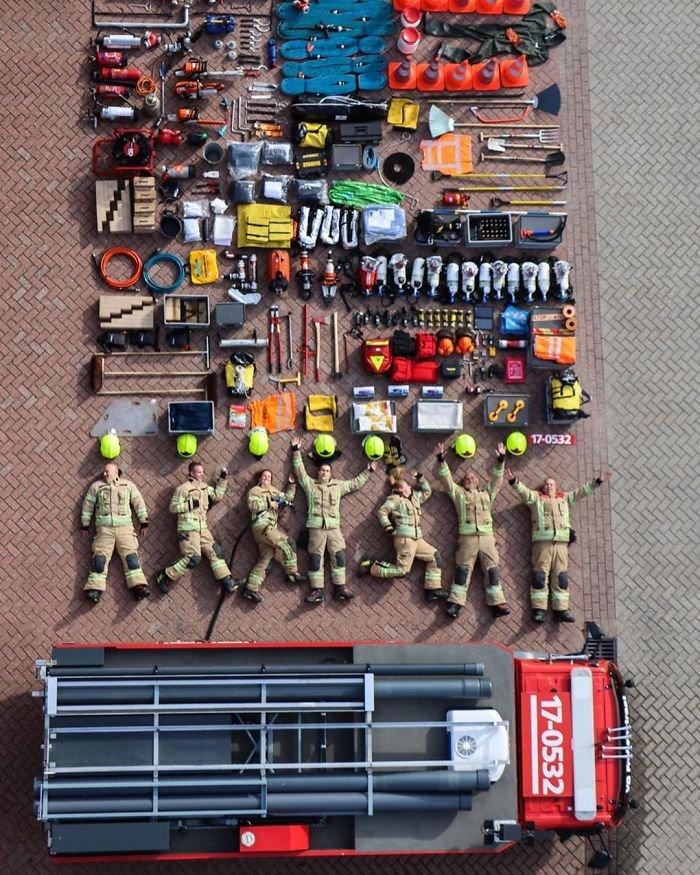 Firefighters From Kazerne Rotterdam-Frobenstraat, The Netherlands