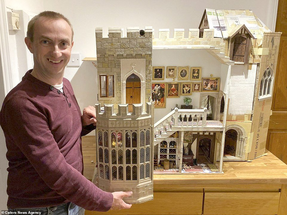 Jon Trenchard, from Forest Hill, South London, began constructing the epic model at the age of 12 after he and his father built one of the rooms in the castle as a one off project