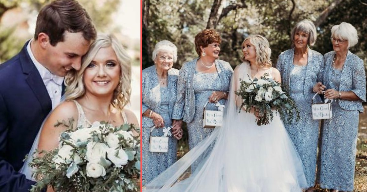 75210290 2206934949410340 6102710977822720000 n.png?resize=366,290 - Bride's Four Grandmothers Were The Flower Girls At Her wedding
