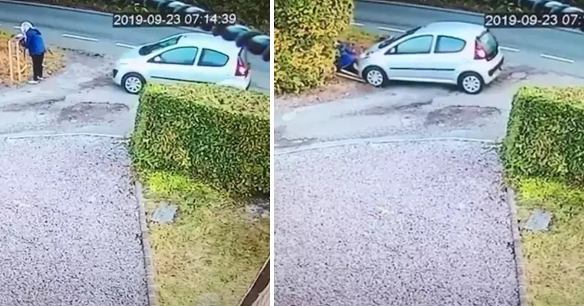 a 61.jpg?resize=1200,630 - A Woman Almost Got Ran Over By Her Own Car After She Forgot To Engage The Handbrake