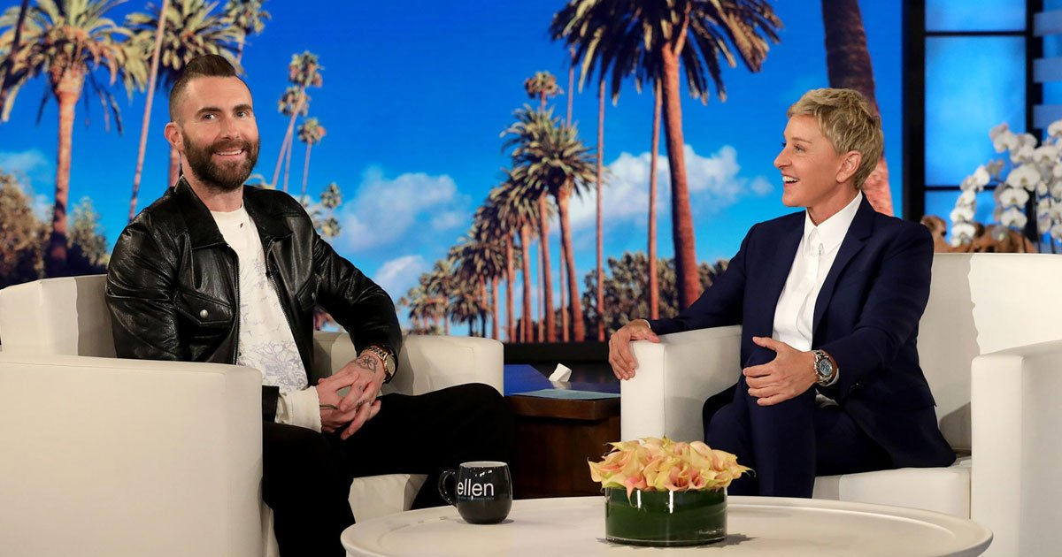 """adam levine opened up about leaving the voice on the ellen degeneres show.jpg?resize=412,232 - Adam Levine Opened Up About Being A Full-Time Parent: """"I Just Stay At Home And Do Very Little"""""""
