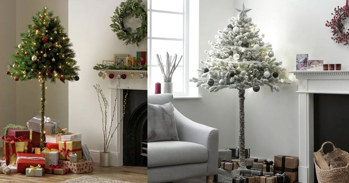 argos is selling half christmas tree from 40 and they are must if you have pets who always ruin your decoration.jpg?resize=412,232 - These Half Christmas Trees Are A Must If You Have Pets