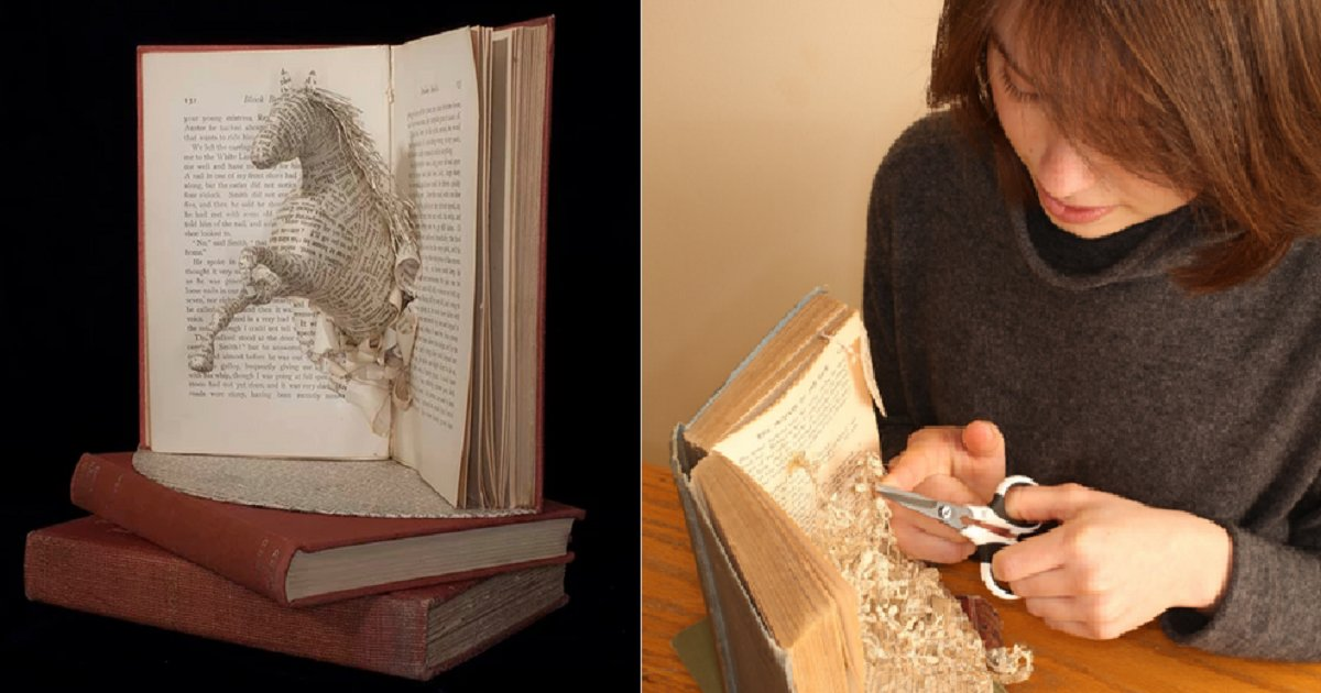 b3.png?resize=412,232 - 24-Year-Old Woman Showcased Her Incredible Talent In The Rare Art Of Book Sculpting