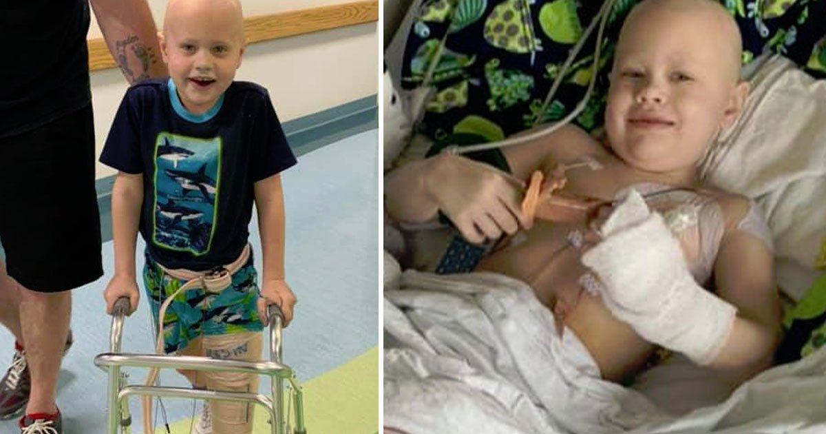 boy survived cancer lost leg.jpg?resize=412,232 - Seven-Year-Old Boy - Who Survived Cancer But Lost His Leg - Will Be Able To Walk Again