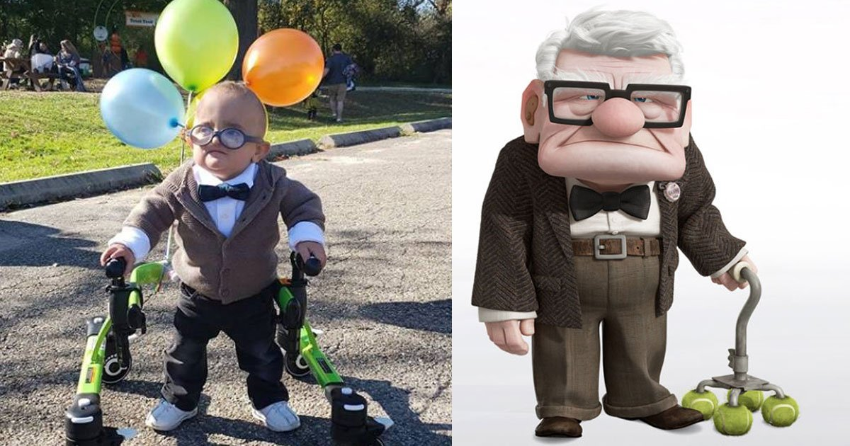 boy with cerebral palsy dressed up as carl fredricksen from up and it is too adorable.jpg?resize=1200,630 - Boy With Cerebral Palsy Dressed Up As Carl Fredricksen From Up