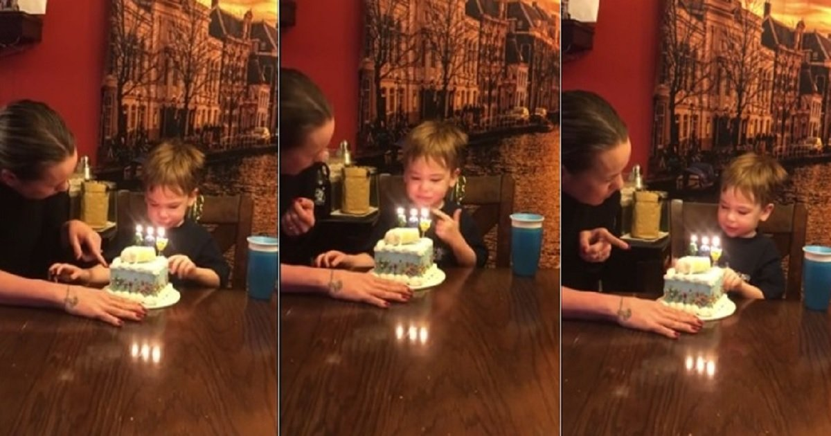 c4.jpg?resize=1200,630 - Toddler Adorably Failed To Understand That He's Supposed To Blow Out The Birthday Candles