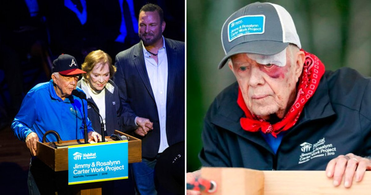 carter5.png?resize=412,232 - Former President Jimmy Carter Is Back To Building Homes With 14 Stitches And Black Eye After Bad Fall