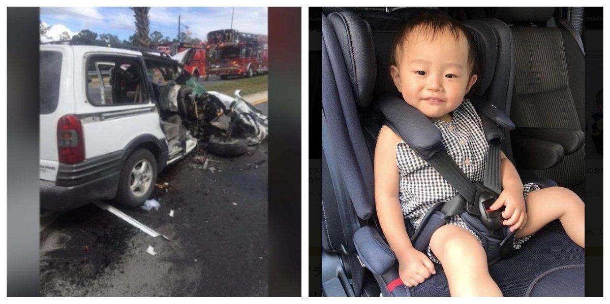 collage fotor 8.jpg?resize=1200,630 - 木に衝突した車、母親が事前に子供にシートベルトを外させていた?!