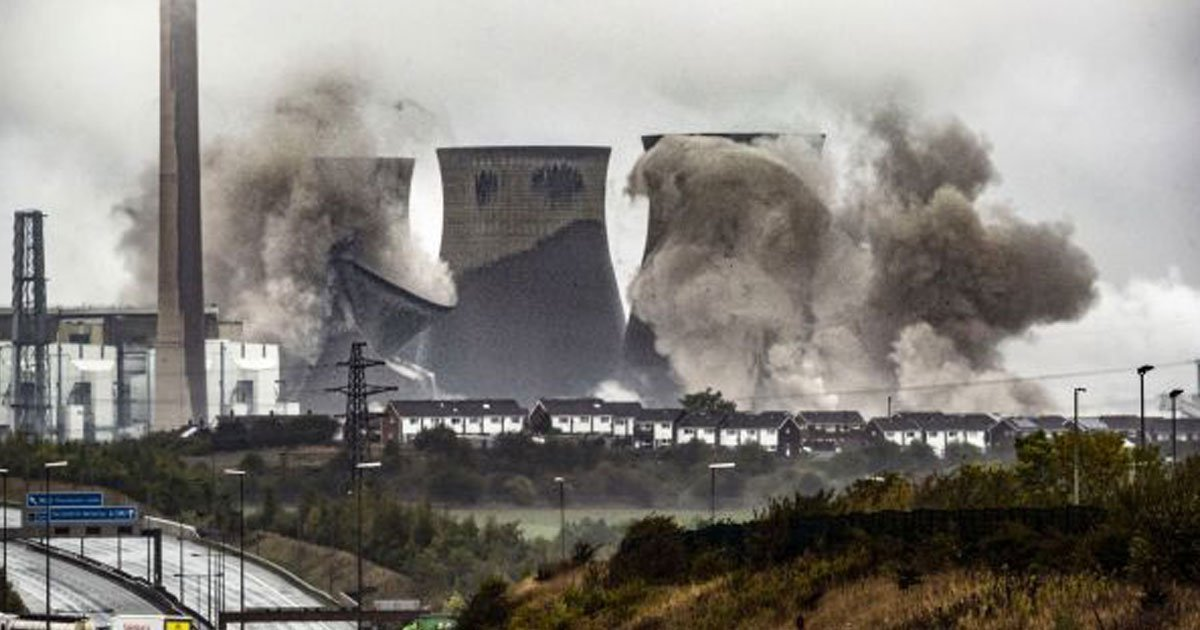 cooling towers.jpg?resize=412,232 - Thousands Gathered To Witness The Demolition Of Four Cooling Towers At The Ferrybridge Power Station