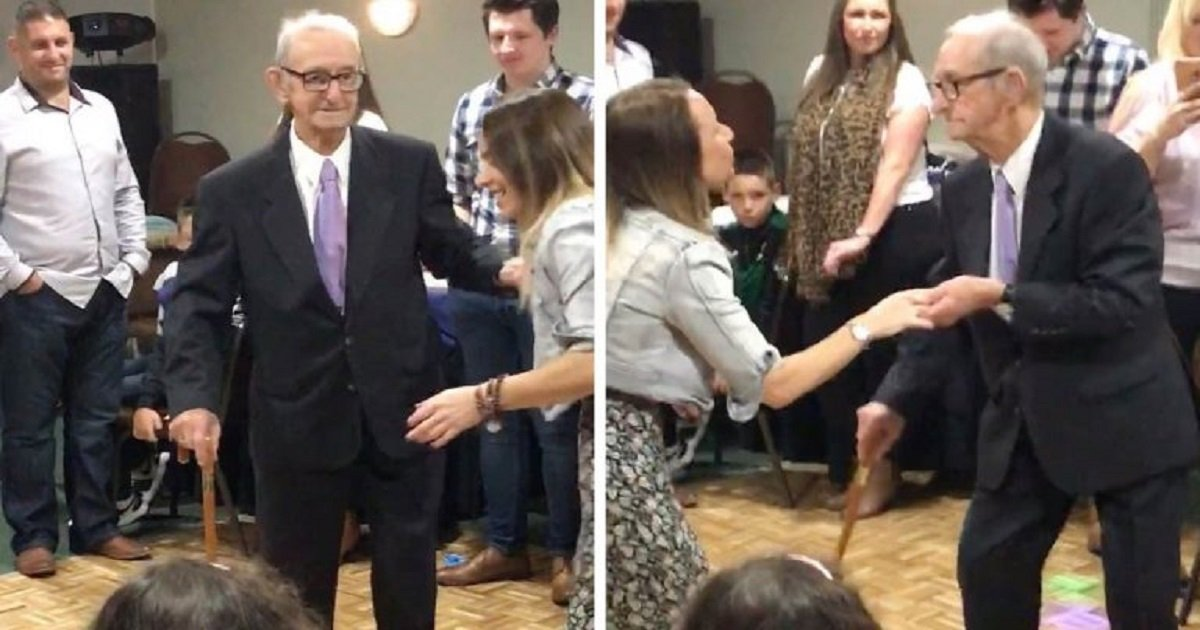 d3 9.jpg?resize=412,232 - Grandpa Showed Off His Incredible Dance Moves For His 100th Birthday