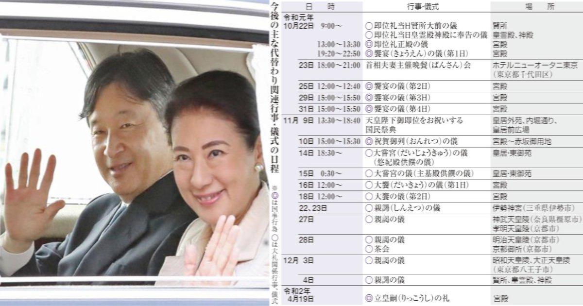emperor.png?resize=300,169 - 22日午後1時から即位礼正殿の儀、ネット中継も 来年4月まで儀式続く