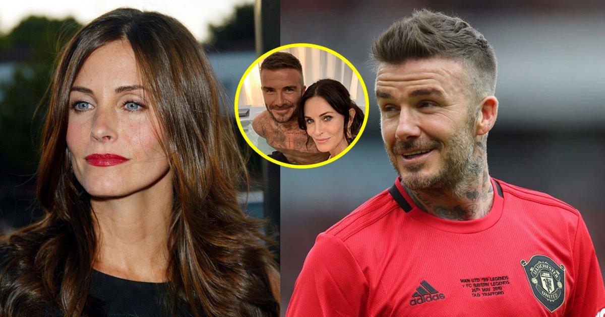 fans posted cheeky comments for courteney placing her hand on beckhams knee in a selfie.jpg?resize=1200,630 - Les fans ont taquiné Courteney Cox pour avoir posé sa main sur le genou de David Beckham dans un selfie