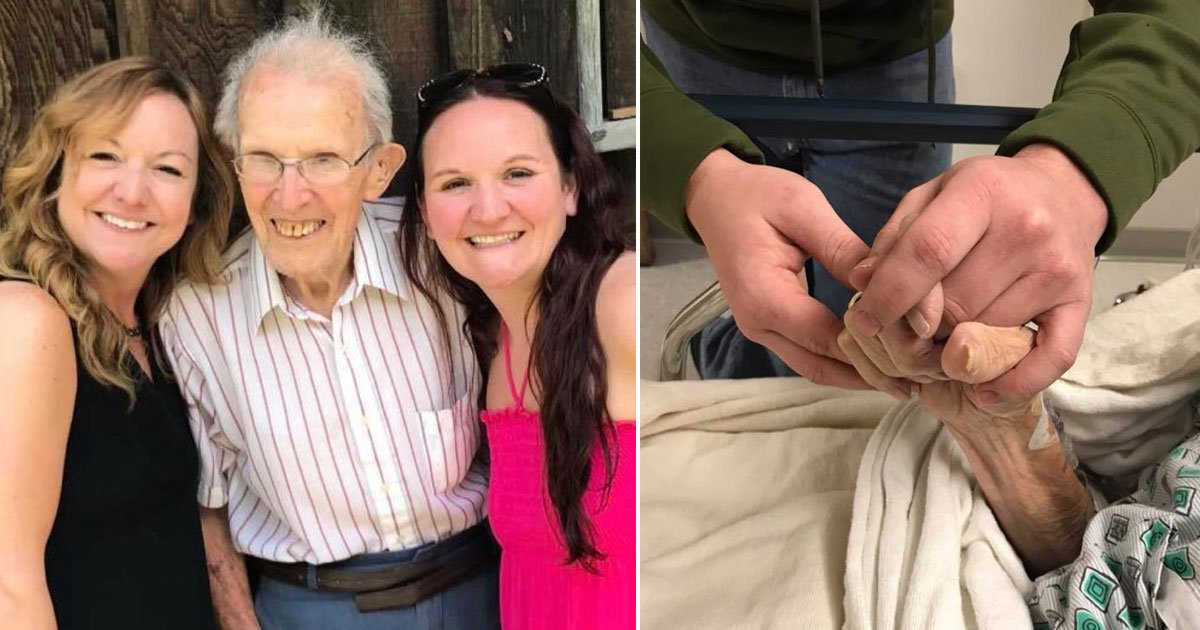"""grandpa sings hymn passing away.jpg?resize=412,232 - 97-Year-Old Sang """"How Great Thou Art"""" In Hospital Bed Before Passing Away"""