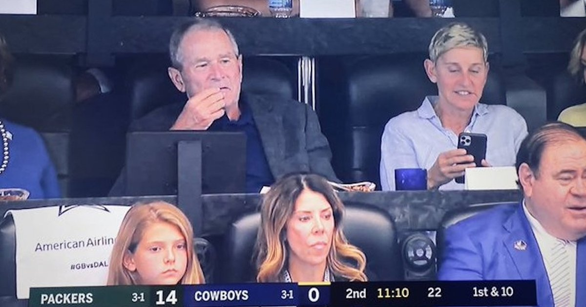 img 5d9fa7b927281.png?resize=1200,630 - George Bush And Ellen DeGeneres Sat Together At A Cowboys Game In Dallas
