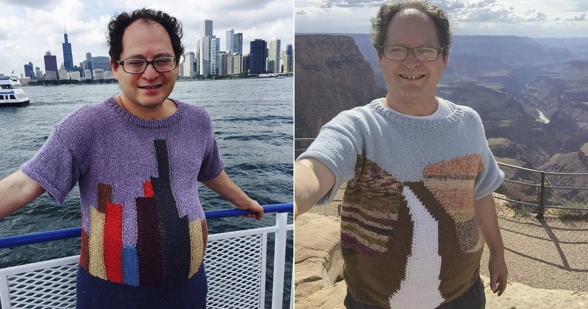 k3 1.jpg?resize=412,232 - Professional Knitter Makes Sweaters With Landmark Destinations He Plans To Visit