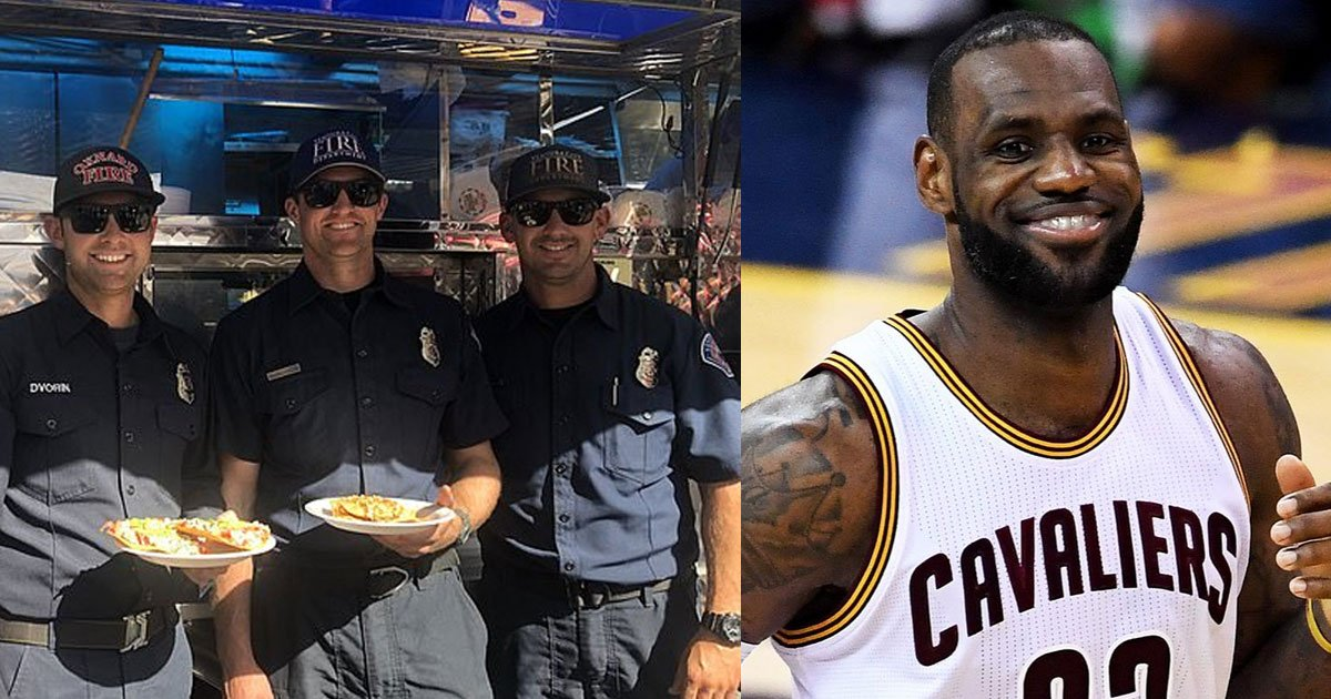 lebron james sent taco trucks to feed firefighters battling southern california blazes.jpg?resize=412,232 - LeBron James Sent Taco Trucks For Firefighters Battling The Wildfires In LA