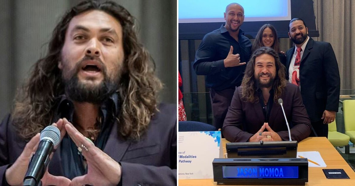 momoa6.png?resize=1200,630 - Jason Momoa 'Aquaman' Says 'We Are A Disease Infecting Our Planet' And Rips Trump At UN