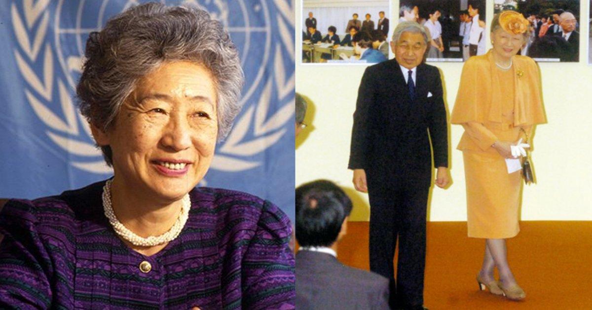 ogata.png?resize=1200,630 - 国連トップの緒方貞子さん死去で上皇后さまが弔問へ、ご冥福お祈りいたします