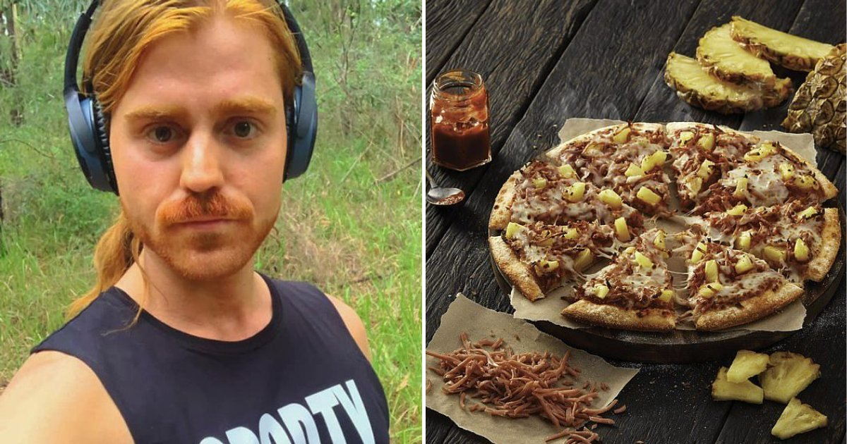 pizza6.png?resize=412,232 - Angry Vegan Felt Sick To His Stomach After Receiving REAL Ham On His 'Plant-Based' Pizza