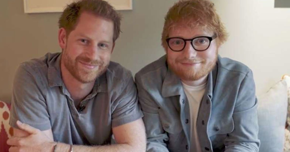 """prince harry and ed sheeran united for world mental health awareness day.jpg?resize=412,232 - Prince Harry Jokingly Said """"It's Like Looking In The Mirror"""" As He Greeted Ed Sheeran"""