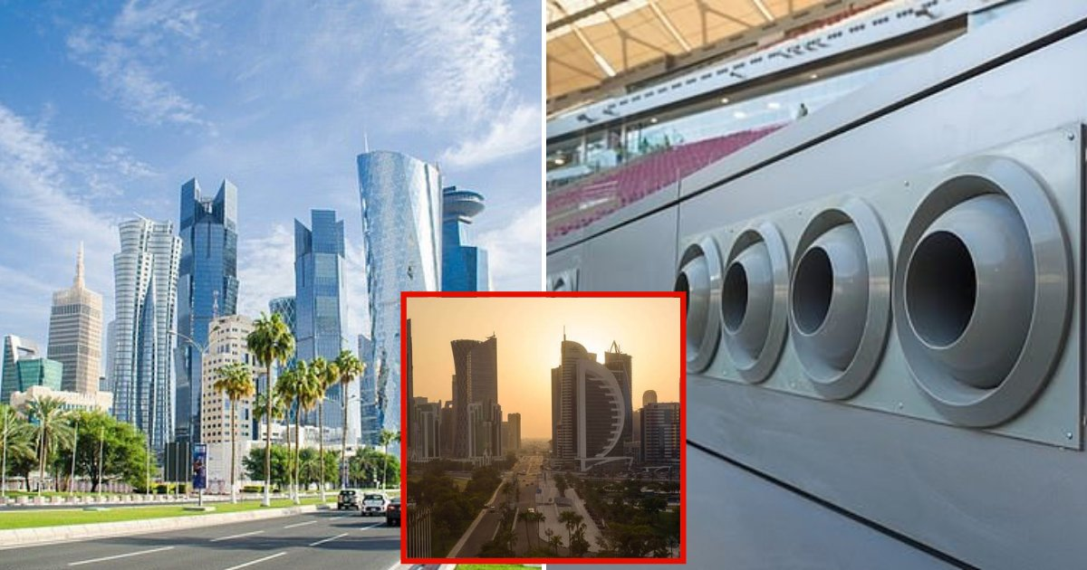 qatar6.png?resize=300,169 - Qatar Is So Hot The Country Had To Install Outdoor Air Conditioning Systems To Cope With Scorching Temperatures