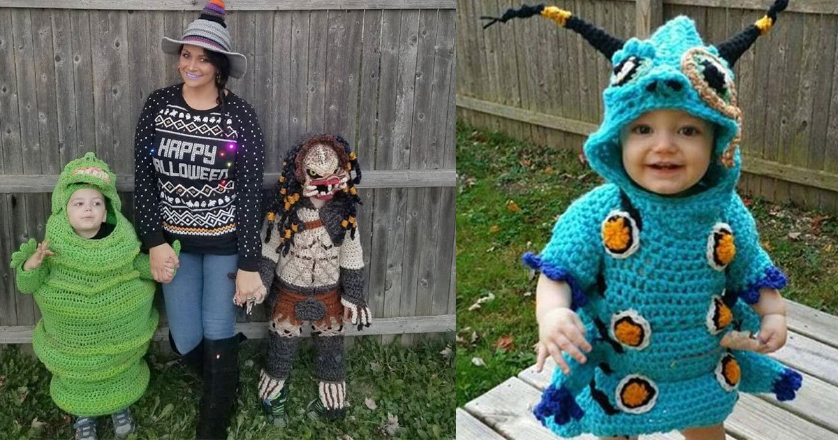 this woman crochets amazing full body halloween costumes for her kids.jpg?resize=1200,630 - This Woman Crocheted Amazing Full Body Halloween Costumes For Her Kids