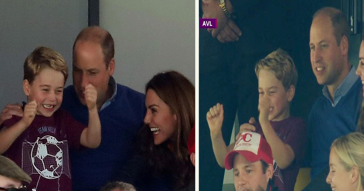 untitled 1 14.jpg?resize=300,169 - Royal Fans Gushed Over How Adorable 'Grown Up' Prince George Was As He Cheered For His Favorite Team