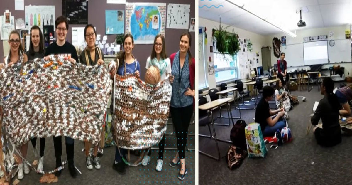 untitled 1 28.jpg?resize=412,232 - High School Students Used Plastic Bags To Create Warm Blankets For The Homeless