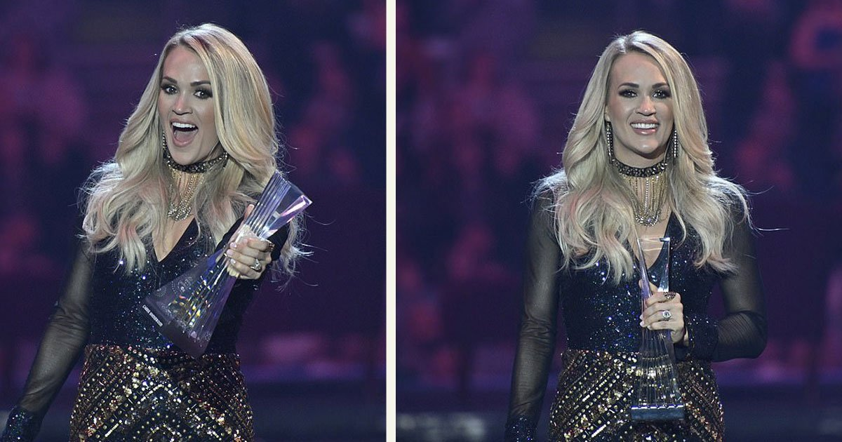 untitled 1 71.jpg?resize=1200,630 - Carrie Underwood Received CMT Artists Of The Year Award With A Remote Performance From Cleveland