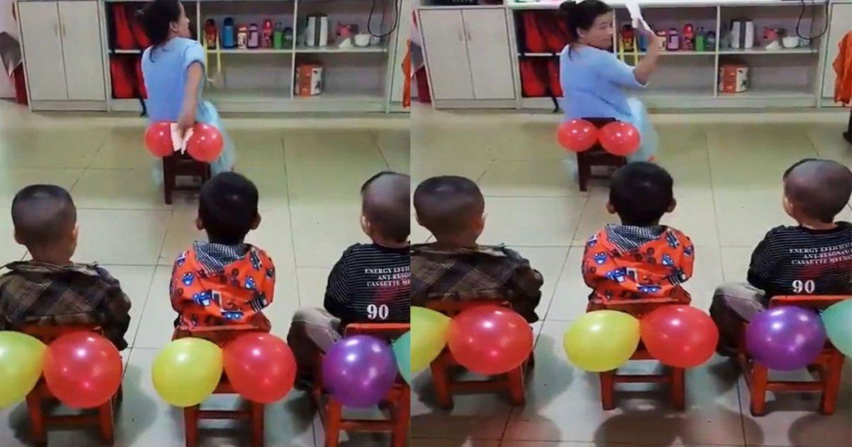untitled 1 74.jpg?resize=1200,630 - Une enseignante a utilisé des ballons pour enseigner à ses élèves comment s'essuyer correctement aux toilettes